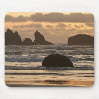 Sea stacks on the beach at Bandon, Oregon Mouse Pad