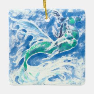 Sea Stallion Ceramic Ornament
