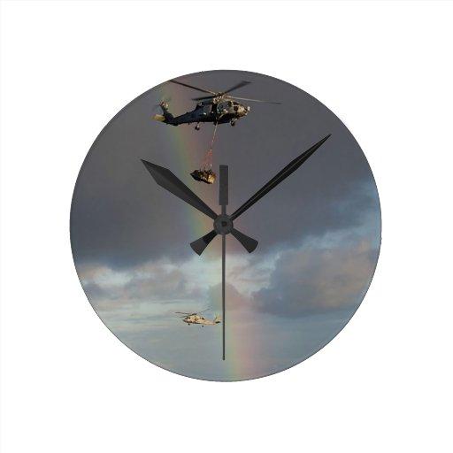 Sea Stallion Round Wall Clocks