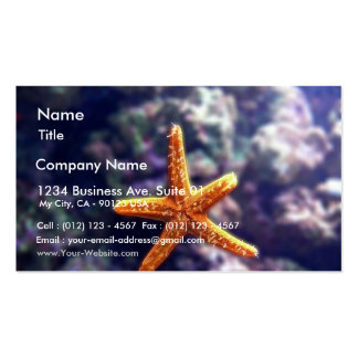 Sea Star In Aquarium Double-Sided Standard Business Cards (Pack Of 100)