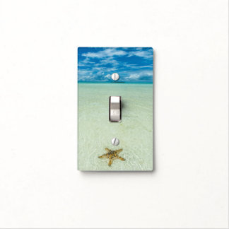 Sea star in shallow water, Palau Light Switch Cover