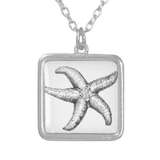 Sea star personalized necklace
