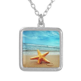 Sea Star On The Beach, Blue Sky, Ocean Custom Jewelry