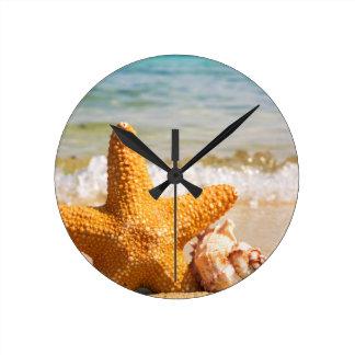 Sea Star Round Clock