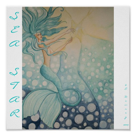 Sea Star, SEASTAR, ©E.Downey2009 poster