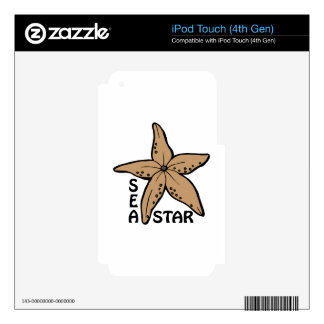 Sea Star iPod Touch 4G Skins