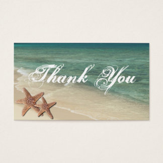 Sea Starfish Thank You Gift Tag