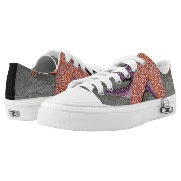 Beach Themed Sea Stars Low-Top Sneakers