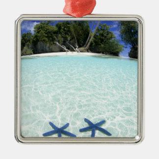 Sea stars, Rock Islands, Palau Metal Ornament