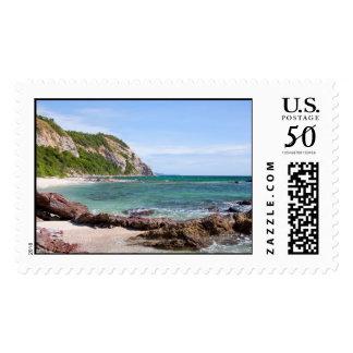 Sea stone coast postage