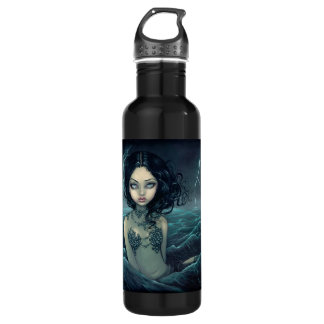 Sea Storm Gothic Mermaid Stainless Steel Water Bottle