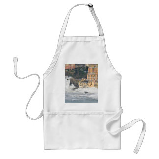 Sea storm in Camogli Adult Apron