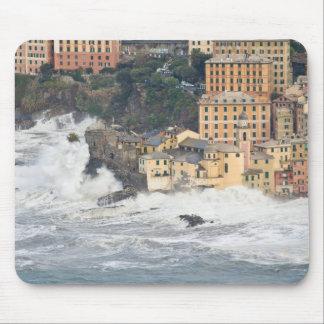 Sea storm in Camogli Mouse Pad