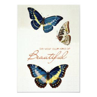Sea su propia clase de hermoso. Mariposas de Comunicado Personalizado