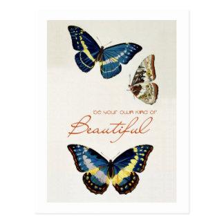 Sea su propia clase de hermoso. Mariposas de monar Postal