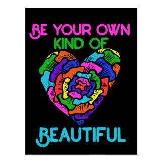 Sea su propia clase de hermoso tarjeta postal