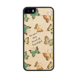 Sea su propia clase de mariposas hermosas funda de arce carved® para iPhone 5 slim