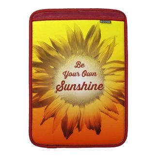 Sea su propio girasol Ombre amarillo rojo de la Fundas MacBook
