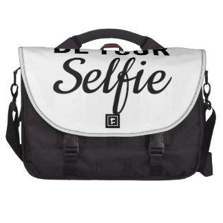 sea su selfie, arte de la palabra, camiseta del di bolsas de portatil