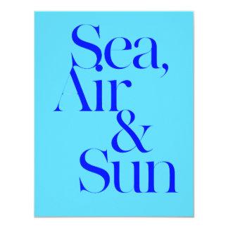 Sea sun air surf beach life mottos fun happy 4.25x5.5 paper invitation card