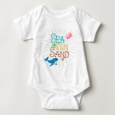 Beach Themed Sea Sun Sand Baby Bodysuit