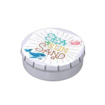 Beach Themed Sea Sun Sand Candy Tins