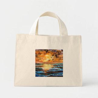 sea sunset mini tote bag