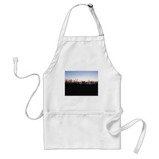 Sea sunset with coastal vegetation silhouette adult apron