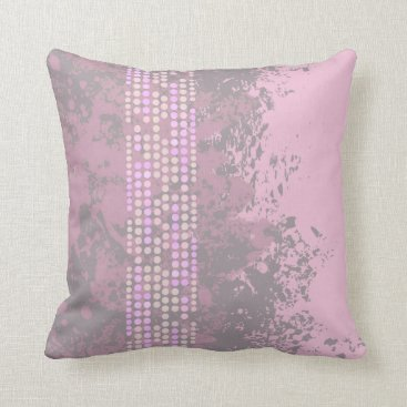 Beach Themed Sea surf muted purple dot abstract cushion pillow