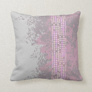 Beach Themed sea surf muted purple grey abstract dot pillow