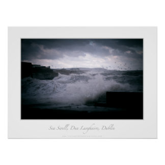 Sea Swell, Dun Laoghaire, Dublin Poster