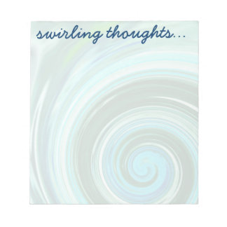 Sea Swirl Custom Notepads to Personalize ~ 2 sizes