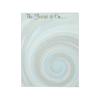 Sea Swirl Tear Off Custom NotePads ~ 2 sizes
