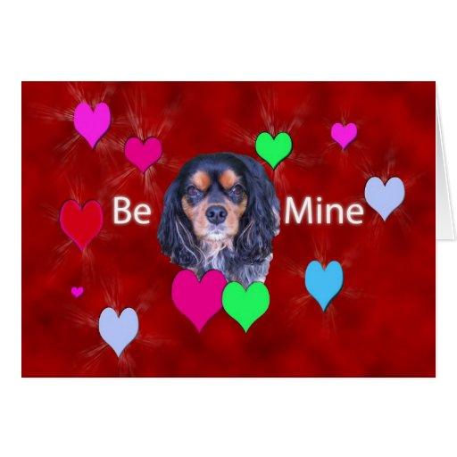 Sea tarjeta arrogante de los corazones del perro d