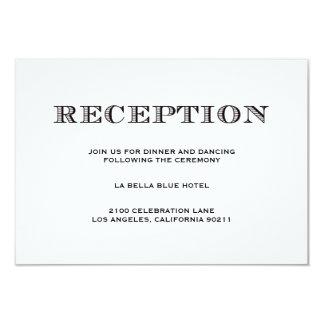 """Sea tarjeta casada del recinto de la recepción del invitación 3.5"""" x 5"""""""