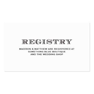 Sea tarjeta casada del registro del | que se casa tarjetas de visita