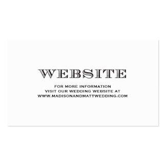 Sea tarjeta casada del Web site del | que se casa Tarjetas De Visita