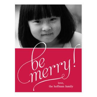 Sea tarjeta de la foto de las Felices Navidad Postales