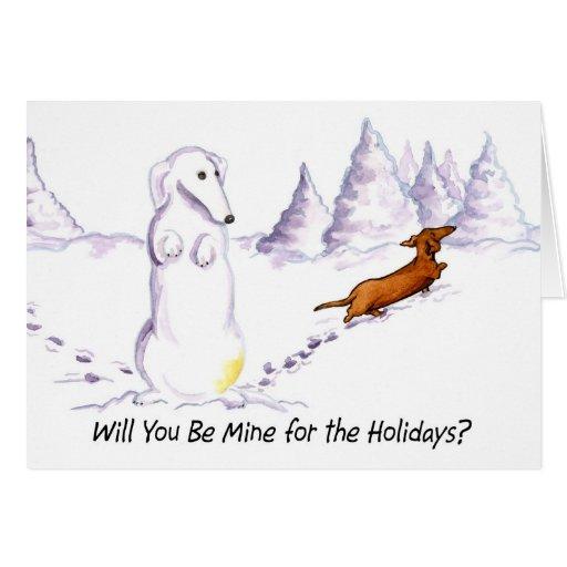 Sea tarjeta de Navidad del perro de Weiner de la m