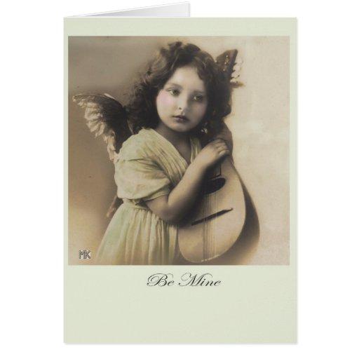 Sea tarjeta del Cupid de la tarjeta del día de San