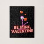 Sea tarjeta del día de San Valentín de la mina Puzzle