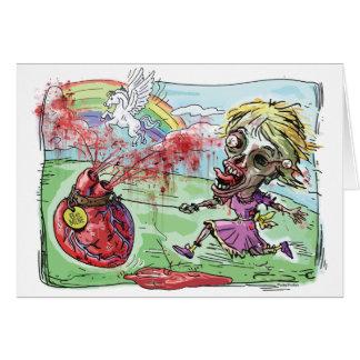 Sea tarjeta del día de San Valentín del zombi de