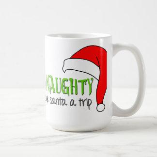 Sea taza divertida traviesa del navidad