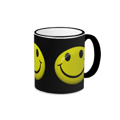 Sea taza sonriente feliz de la cara