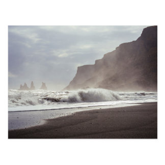 Sea Themed, A Picture Of Choppy And Wild Waves  In Postcard