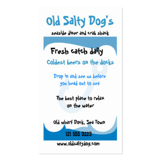 Sea themed business card