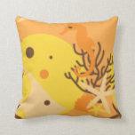 Sea Themed Toss Pillows - Orange Cream Color Theme