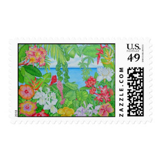 Sea through the Jungle Postage Stamp