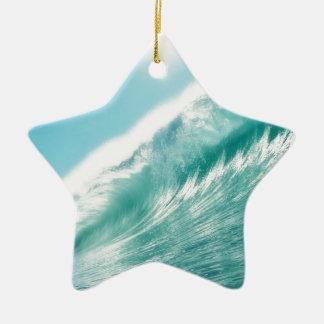 sea tide adorno navideño de cerámica en forma de estrella