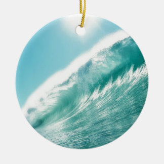 sea tide adorno navideño redondo de cerámica